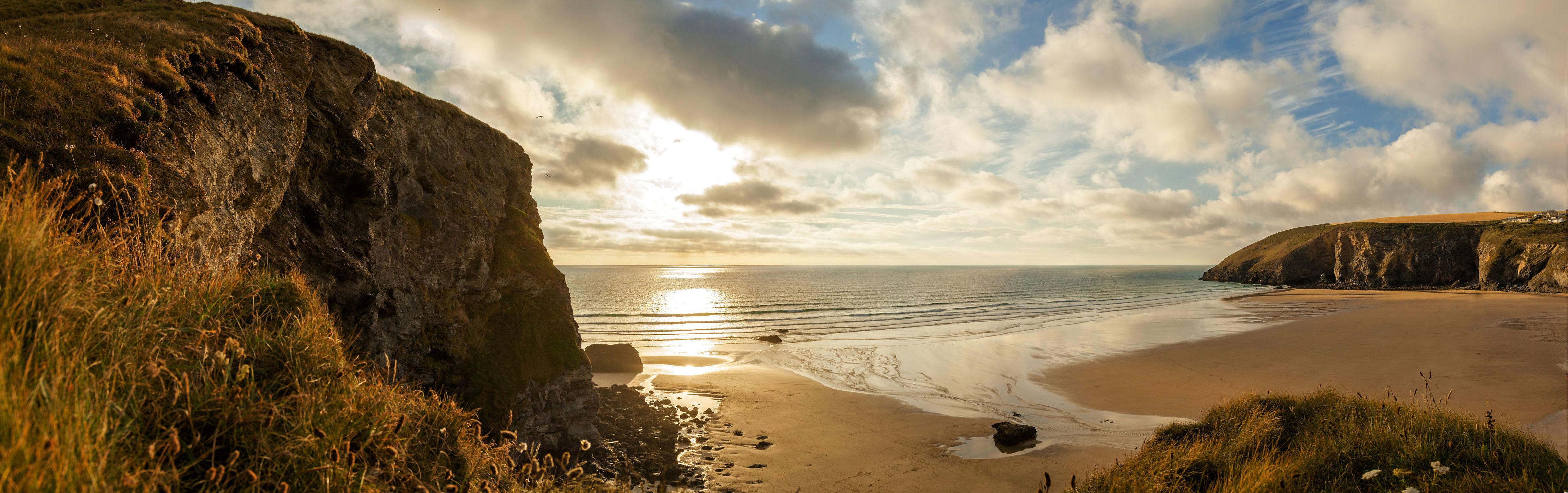 Bild mit Natur, Wasser, Berge, Gewässer, Felsen, Sonnenuntergang, Sonnenaufgang, Strand, Sandstrand, Küste, Am Meer, ozean