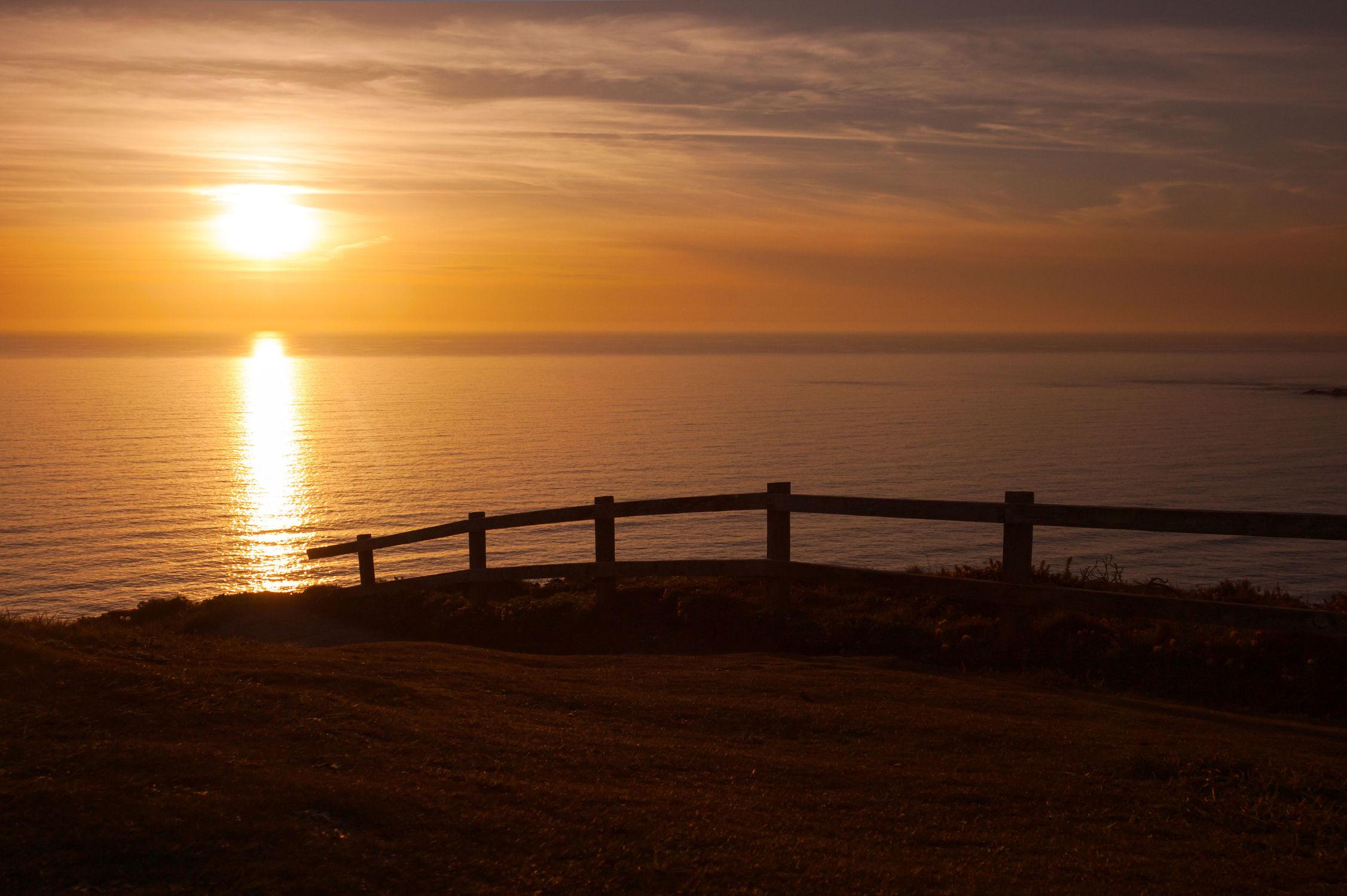 Bild mit Natur, Strände, Sand, Sonnenuntergang, Sonnenaufgang, Strand, Sandstrand, Meer, Sonnenschein, Nature, Zaun