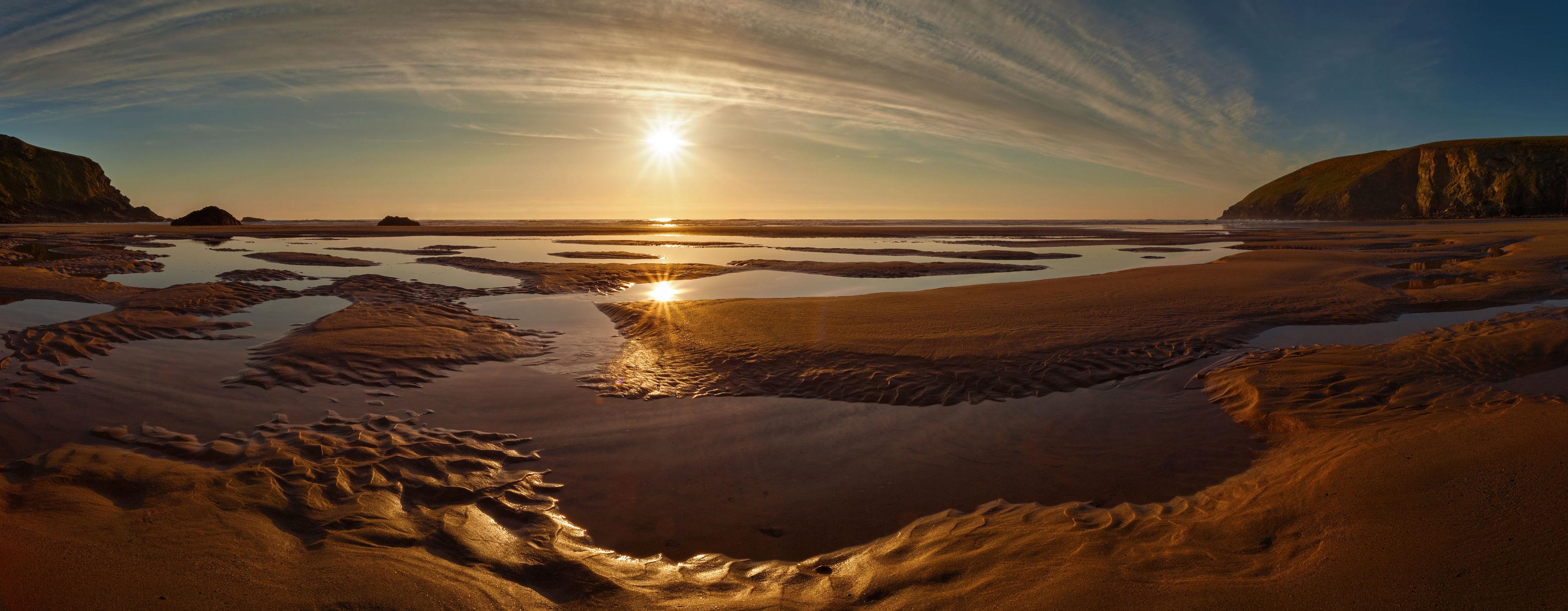 Bild mit Natur, Wasser, Gewässer, Sonnenuntergang, Sonnenaufgang, Strand, Sandstrand, Am Meer, ozean