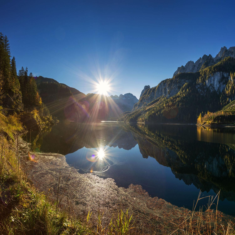 Bild mit Natur, Wasser, Berge, Sonne, Alpen, See, berg, Gebirge