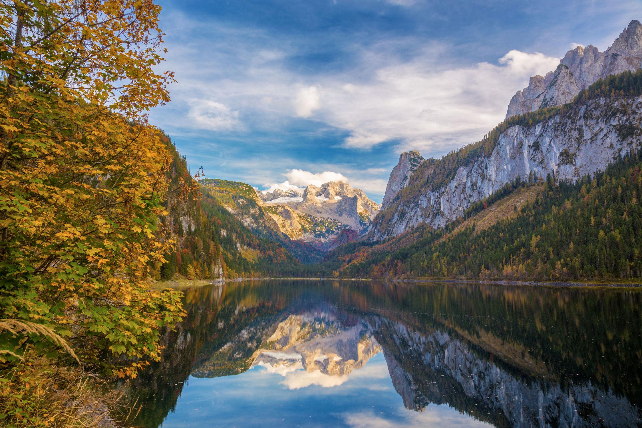 Bild mit Natur, Wasser, Berge, Sonne, Alpen, See, berg, Gebirge, Fluss
