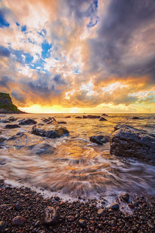 Bild mit Natur, Wasser, Gewässer, Strände, Sonnenuntergang, Sonnenaufgang, Strand, Meer, Beach, Am Meer, ozean
