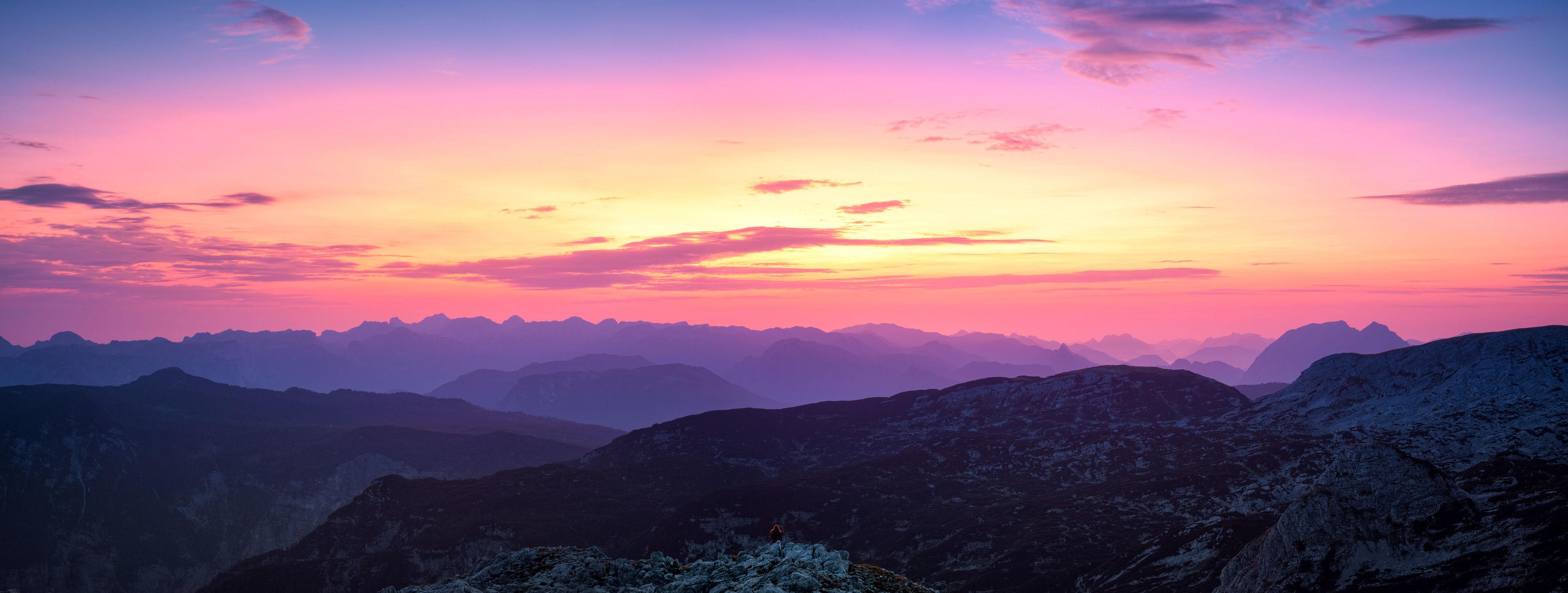 Bild mit Natur, Berge, Sonnenaufgang, Alpen, Landschaft, Sonneuntergang, berg, Gebirge