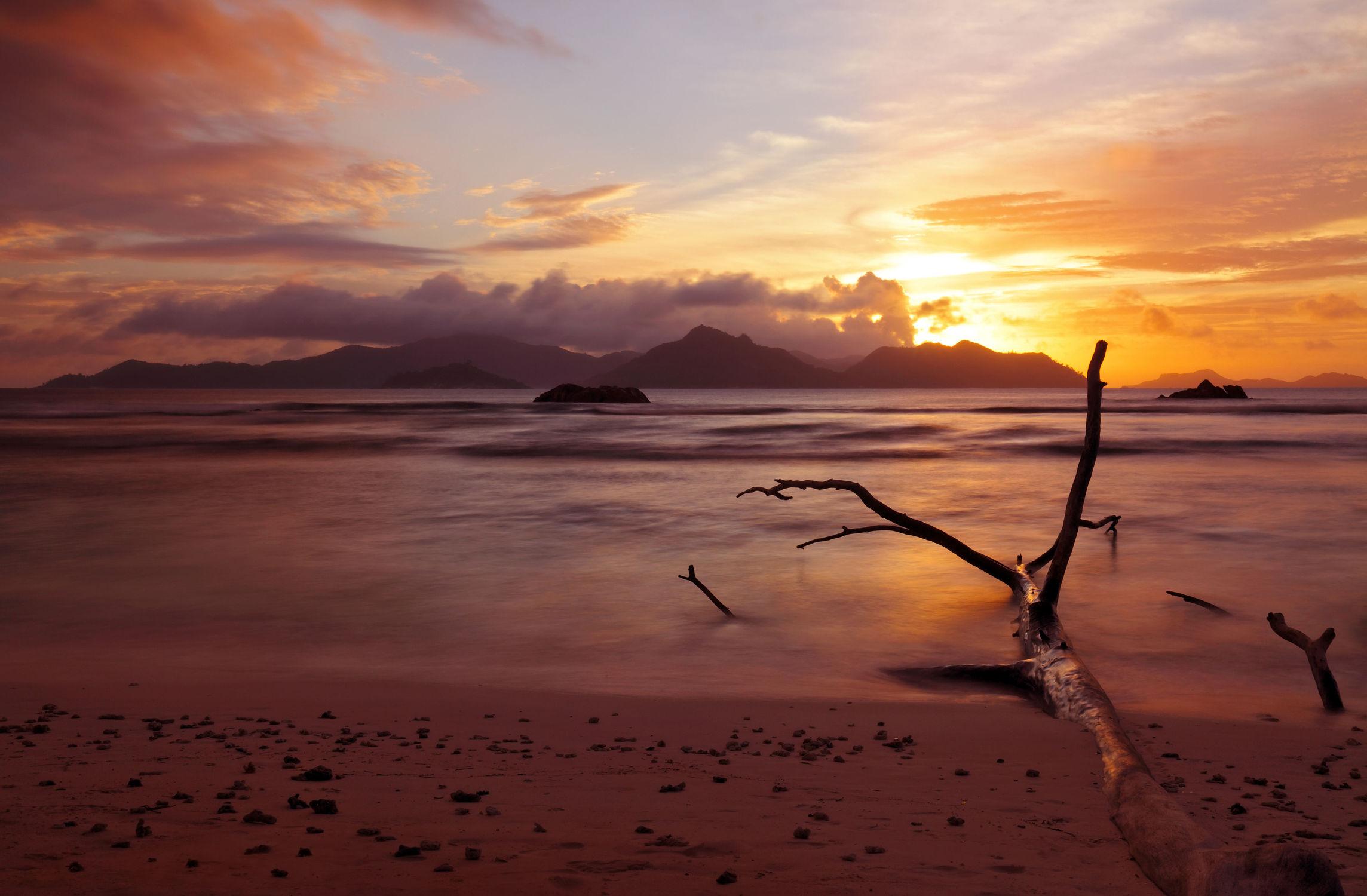 Bild mit Natur, Wasser, Meere, Sand, Urlaub, Inseln, Strand, Paradies, Abendstimmung