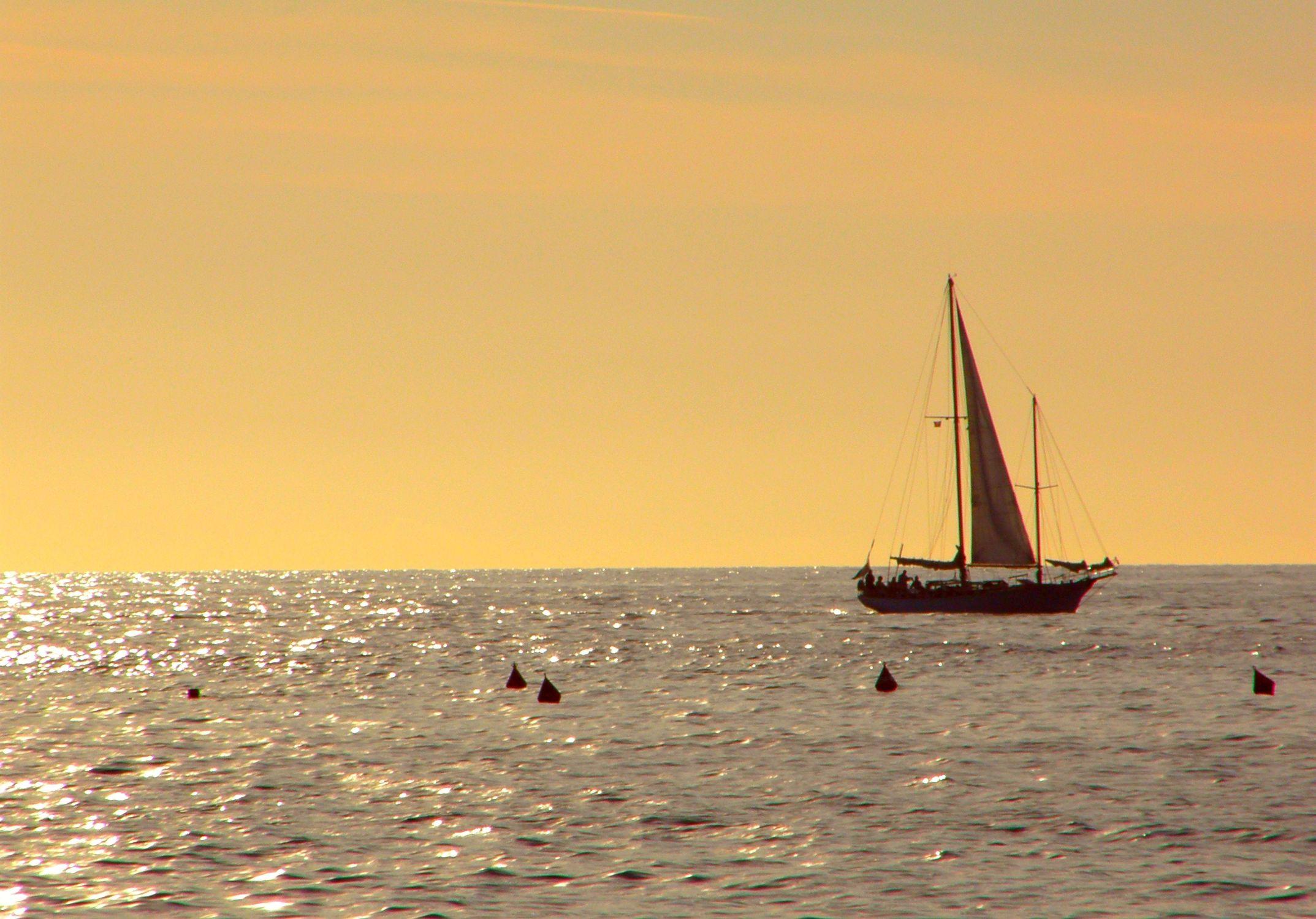Bild mit Segelboote