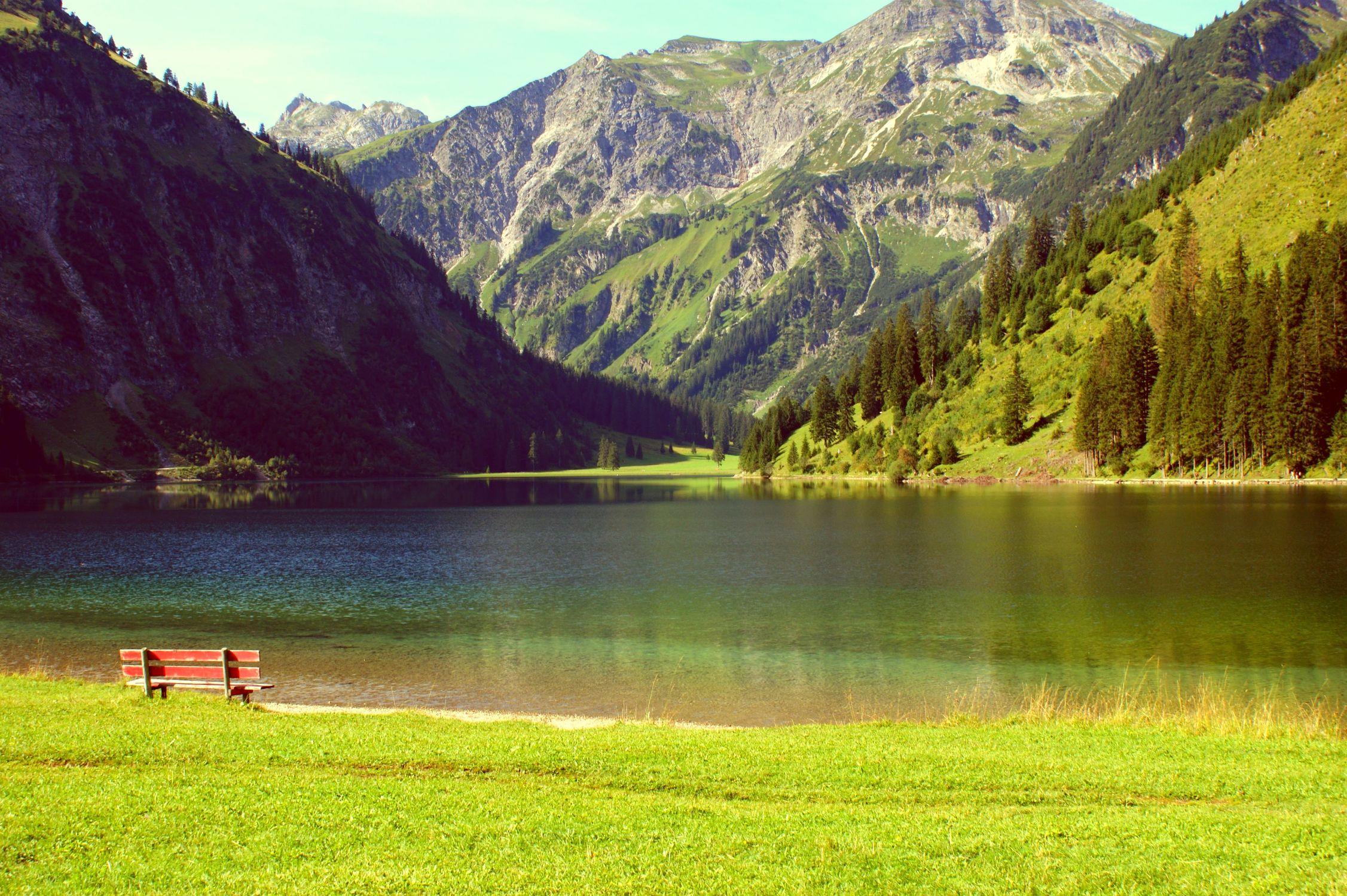 Bild mit Landschaften, Berge, Seen, Landschaft, Bergsee, Ruhe am See, berg, Gebirge