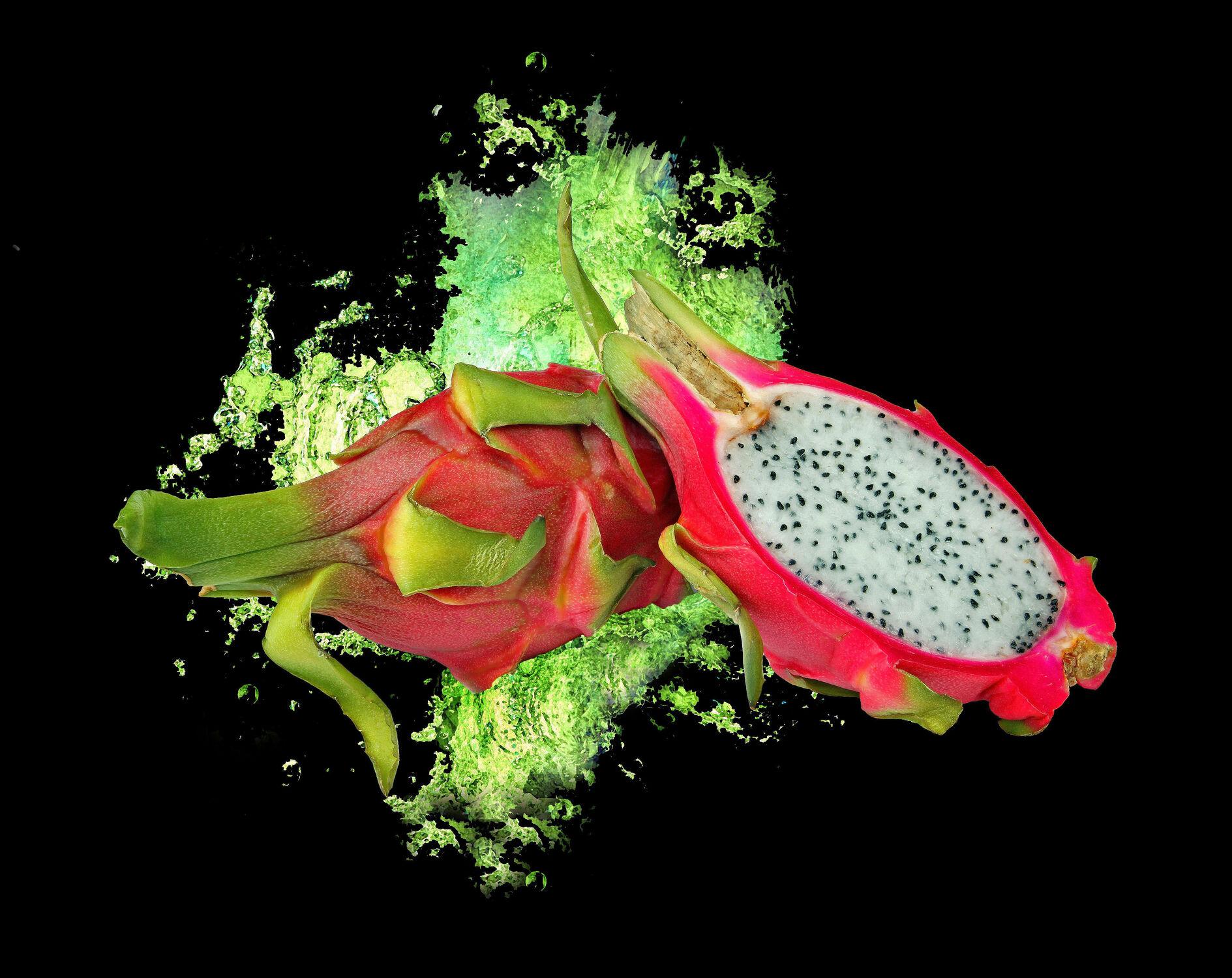 Bild mit Früchte, Frucht, Obst, Küchenbild, Food, Küchenbilder, KITCHEN, Küche, Küchen, Pitahaya, Drachenfrucht