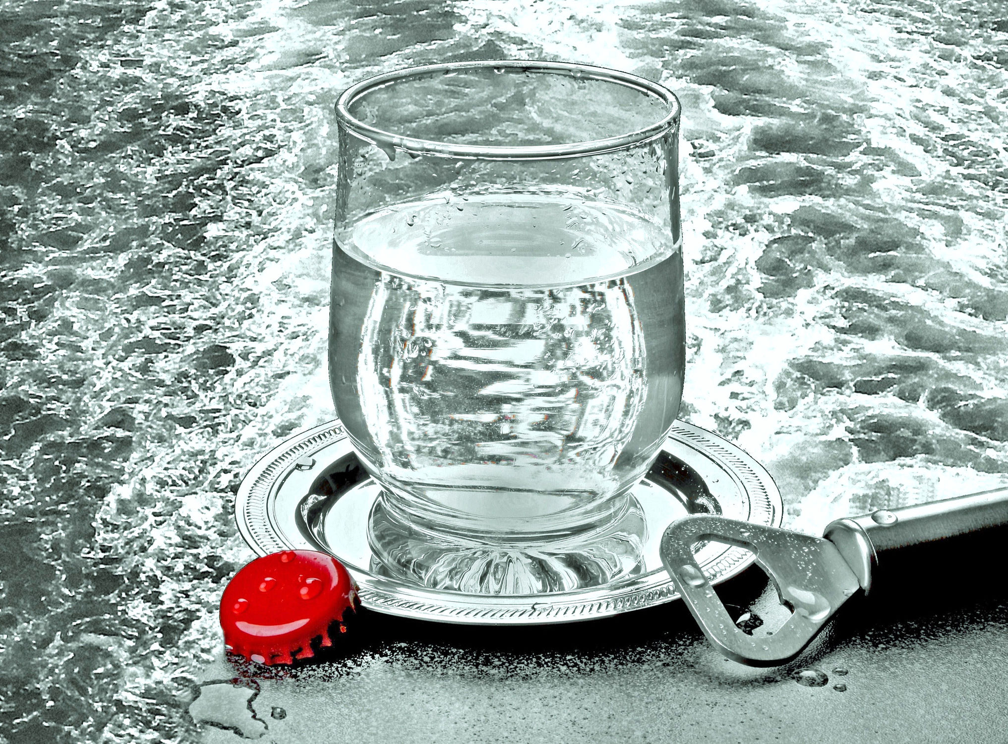 Bild mit Wasser, Getränke, Küchenbild, Wassertropfen, Wasserperlen, Tropfen, Food, Küchenbilder, Getränk, Küche, Küchen