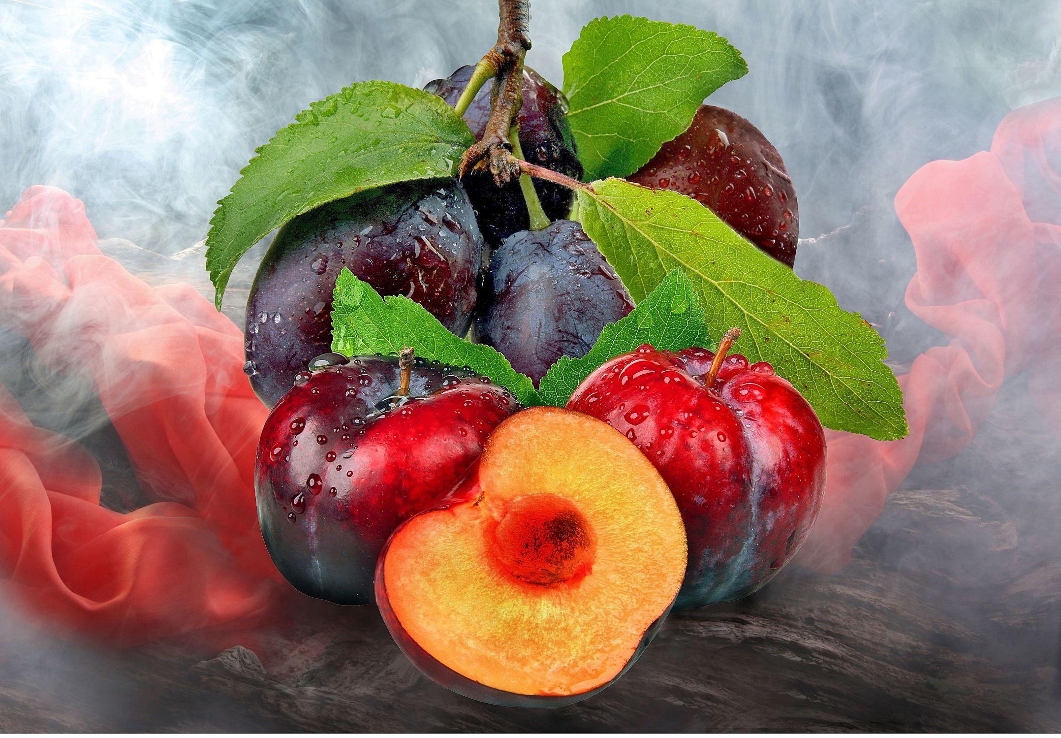 Bild mit Früchte, Frucht, Obst, Küchenbild, Food, Küchenbilder, KITCHEN, Küche, pflaume, pflaumen