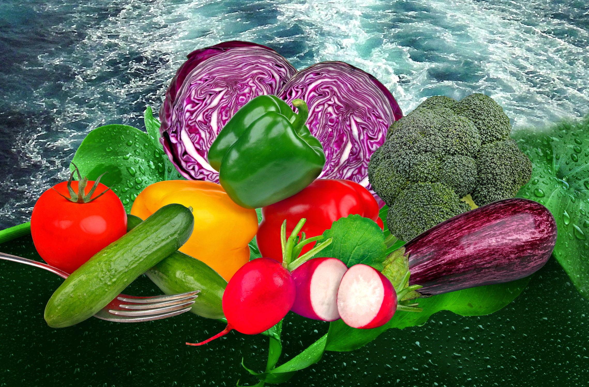 Bild mit Wasser, Gemüse, Küchenbild, See, Wassertropfen, Weintrauben, Küchenbilder, Küche
