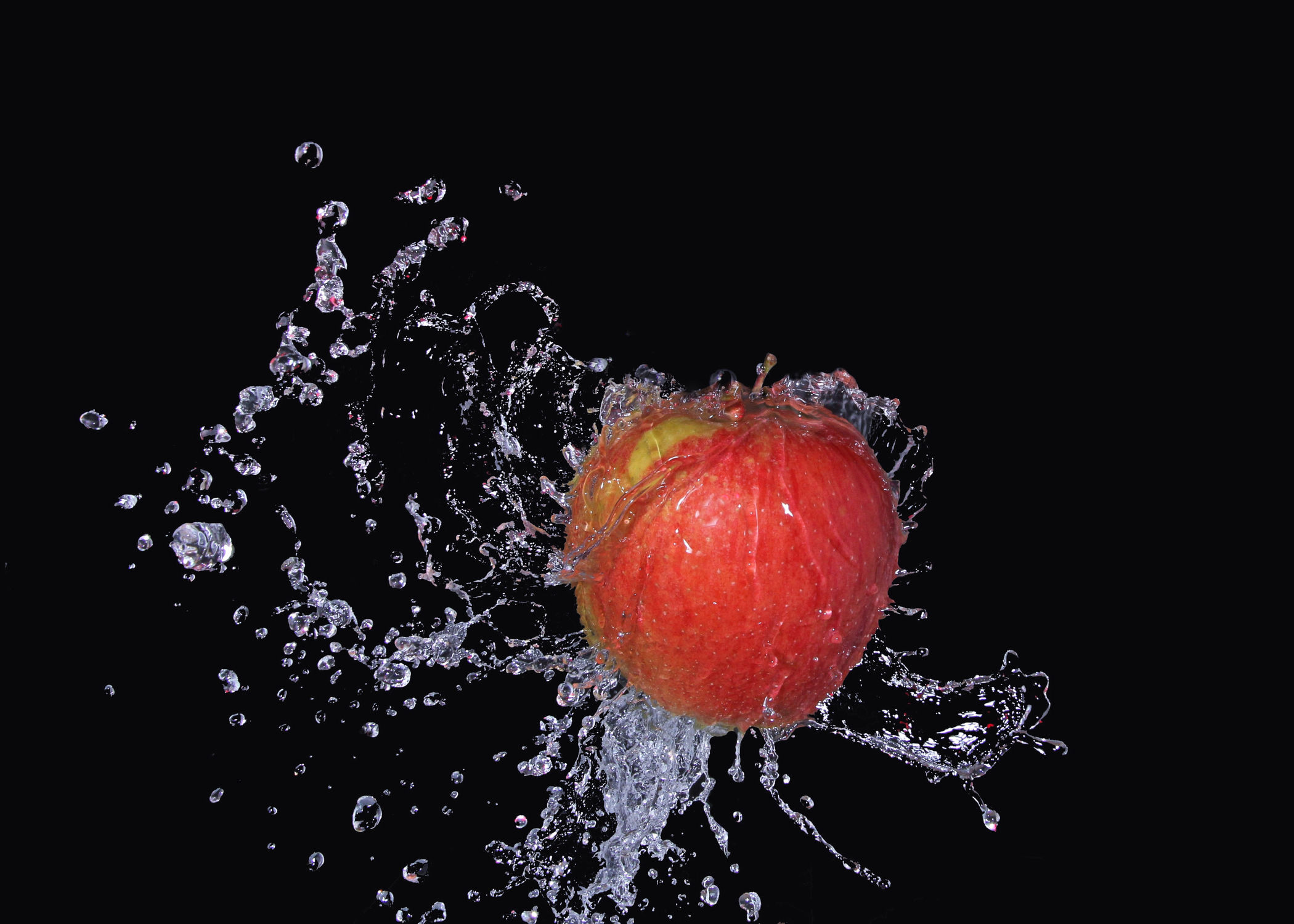 Bild mit Wasser, Früchte, Essen, Frucht, Obst, Küchenbild, Nahrung, Wassertropfen, Apfel, Apfel, Food, Küchenbilder, Ernährung, Küche, Splash