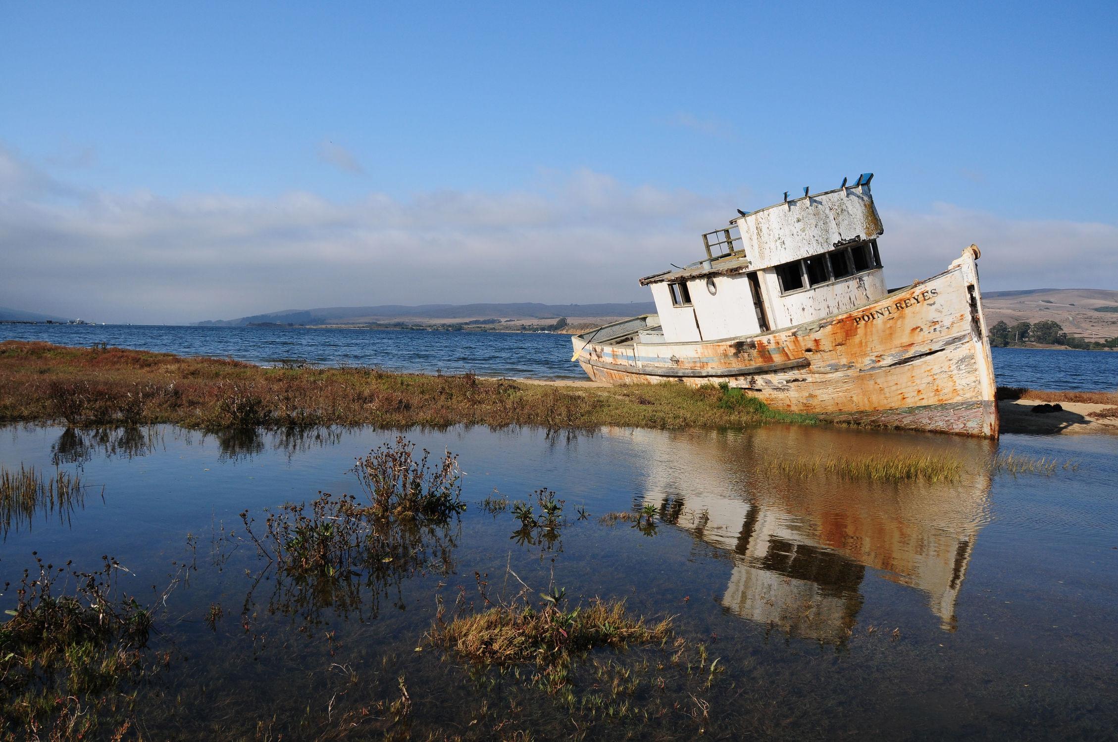 Bild mit Wasser, Landschaften, Gewässer, Seen, Meere, Strand, boot, Meer, Boote, Landschaft, See, landscape, alt