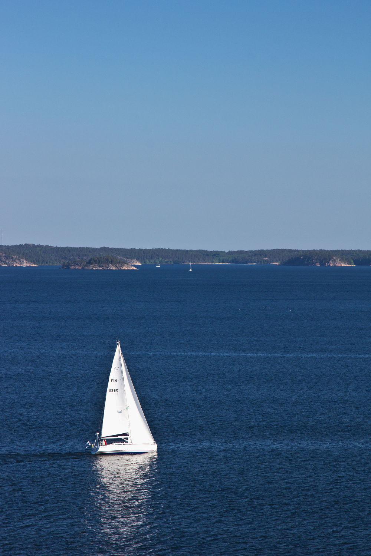 Bild mit Landschaften, Gewässer, Segelboote, Segelboot, boot, Meer, Boote, Landschaft, Skandinavien
