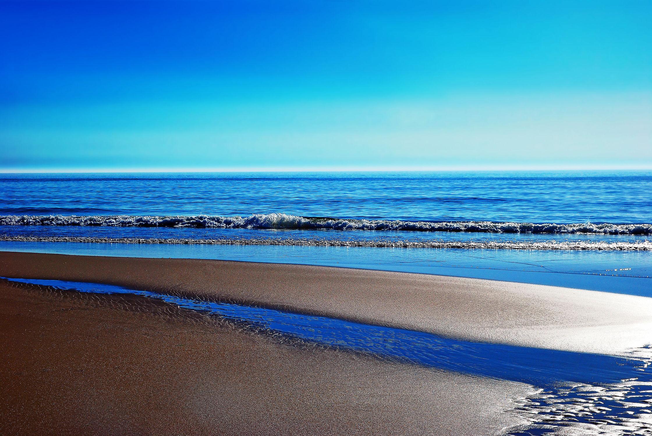 Bild mit Natur, Wasser, Gewässer, Meere, Strände, Wellen, Urlaub, Strand, Meer, Ocean, Nordsee, Am Meer, Abend am Meer, Reise, sea, seaside, ozean, nordfriesland
