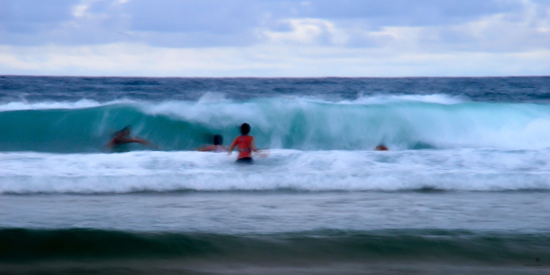Bild mit Natur, Wasser, Gewässer, Meere, Strände, Wellen, Strand, Meer, Ocean, People, Am Meer, Abend am Meer, seaside, ozean, leute