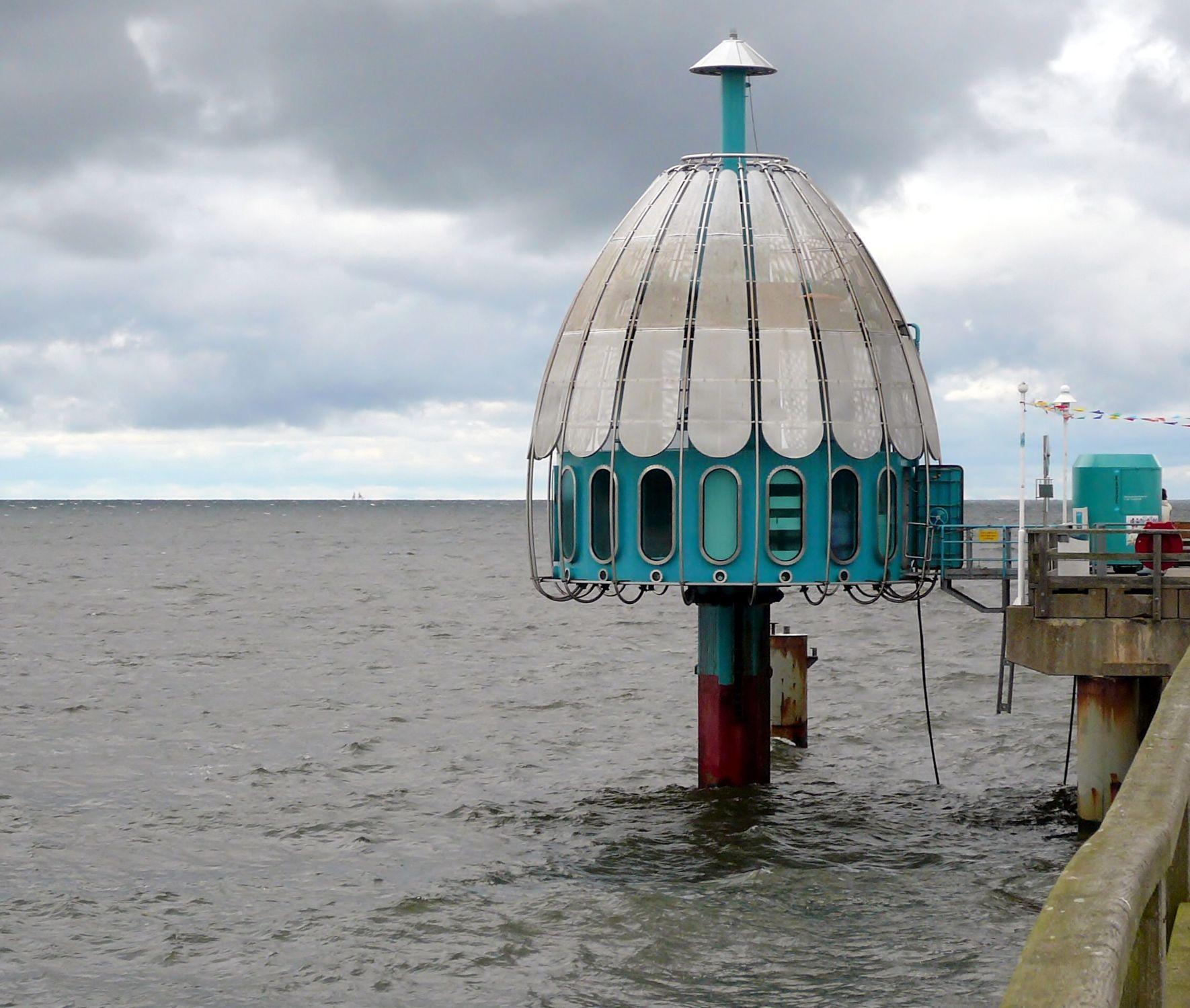 Bild mit Wasser, Ostsee, Insel, Usedom, Usedom, Küste, bauwerk, Mecklenburg, Vorpommern, Taucherglocke, tauchen