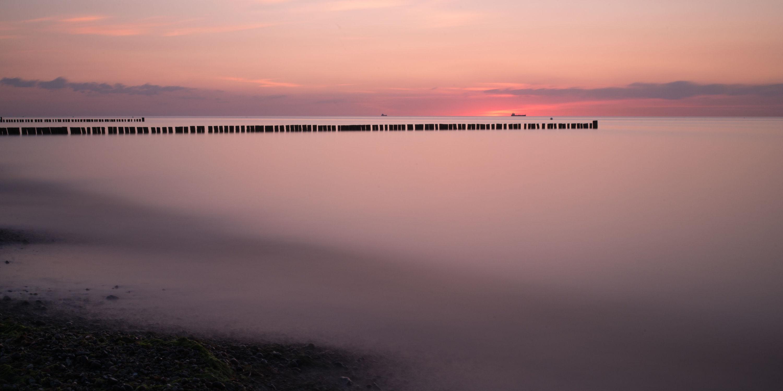 Bild mit Natur, Wasser, Gewässer, Sonnenuntergang, Sonnenaufgang, Strand, Ostsee, Meer, Am Meer, ozean