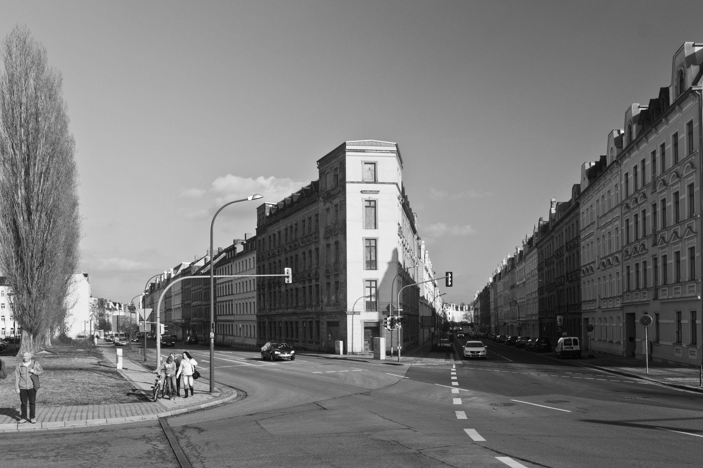 Bild mit Straßen und Wege, Görlitz, City, Architektur in Schwarzweiß, schwarz weiß