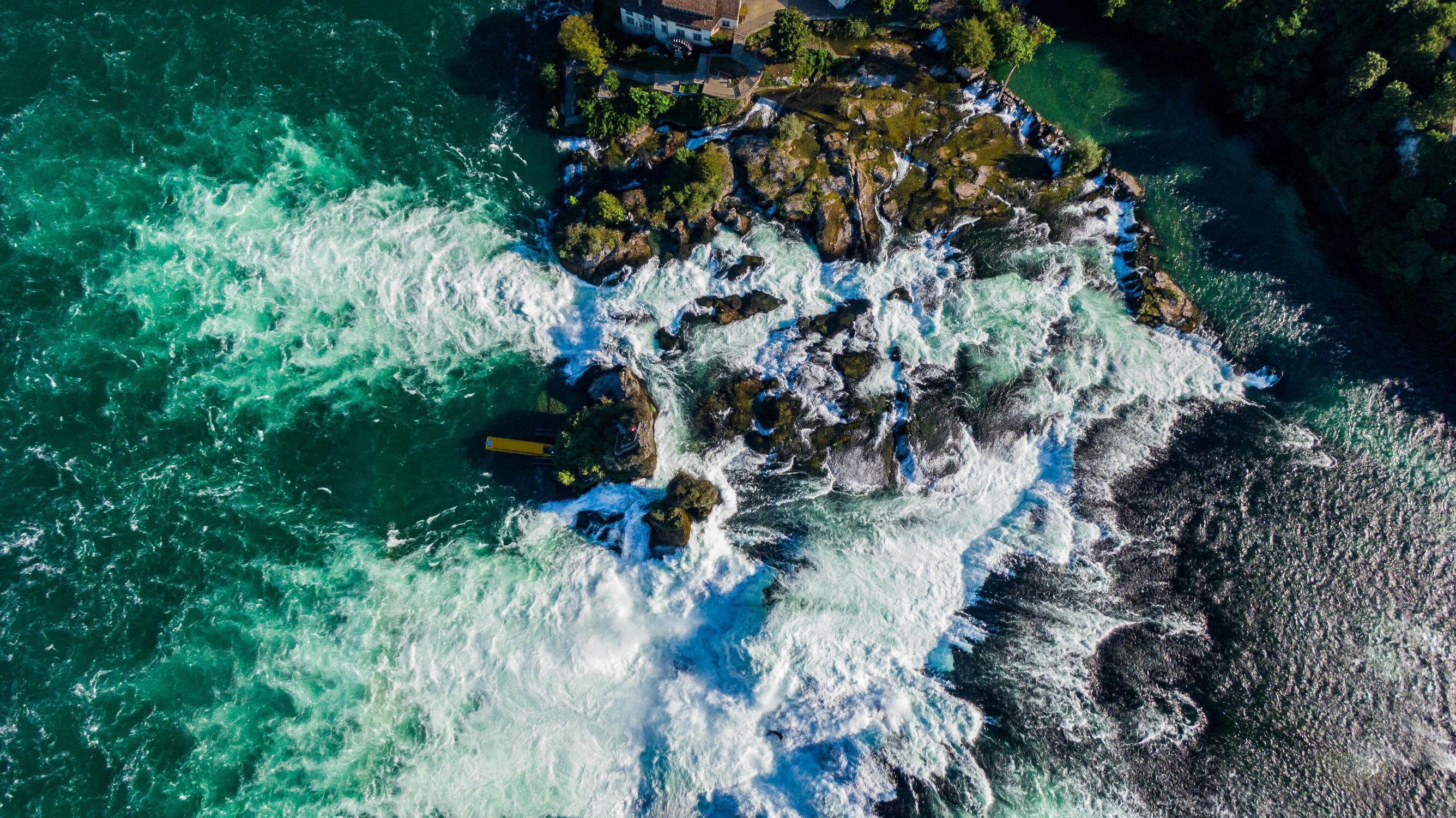 Bild mit Wasserfälle, Fluss, Drohnen, Rheinfall