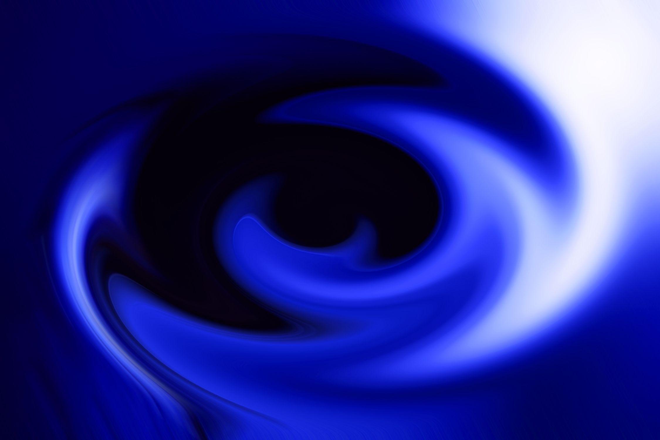 Bild mit Farben, Gegenstände, Kunst, Natur, Elemente, Wasser, Himmel, Lila, Blau, Kobaltblau, Figuren und Formen, Spiralen, Azurblau