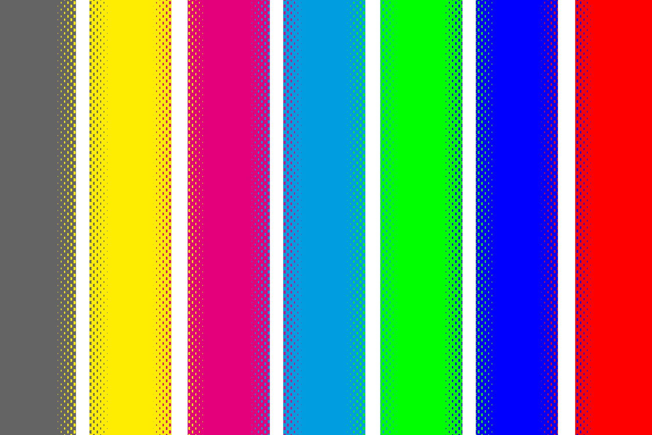Bild mit Farben, Gelb, Illustration, Abstrakt, Abstrakte Kunst, Abstrakte Malerei, Streifen, Bunt