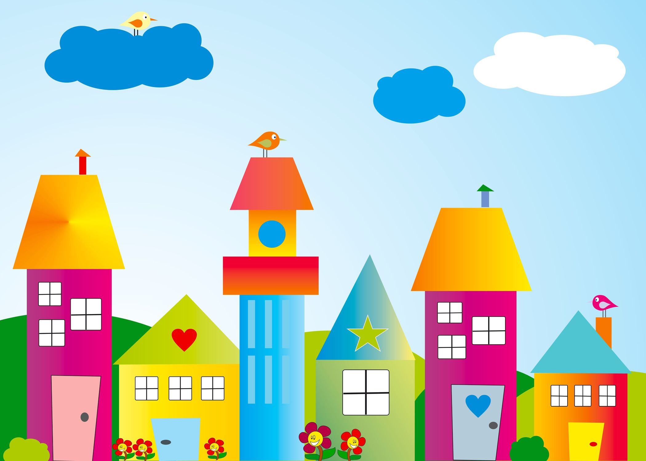 Bild mit Kunst, Zeichnung, Illustration, Kinderbild, Kinderbilder, Kinderzimmer, Kinderwelt