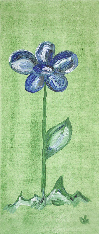 Bild mit Farben, Kunst, Natur, Pflanzen, Blumen, Blau, Malerei, Blume, Pflanze, Kunstwerk