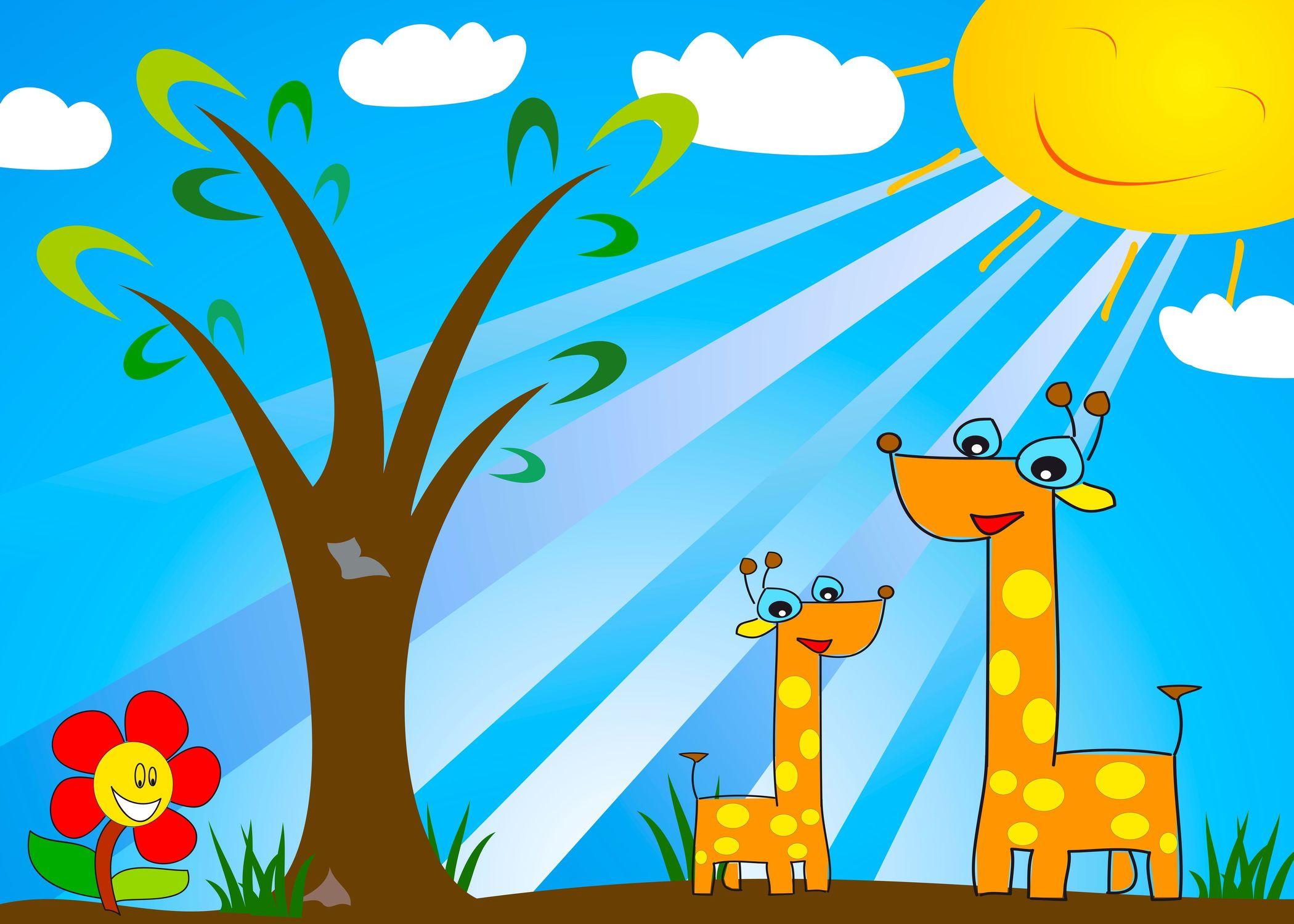 Bild mit Zeichnung, Illustration, Kinderbild, Kinderbilder, Kinderzimmer, Kinderwelt
