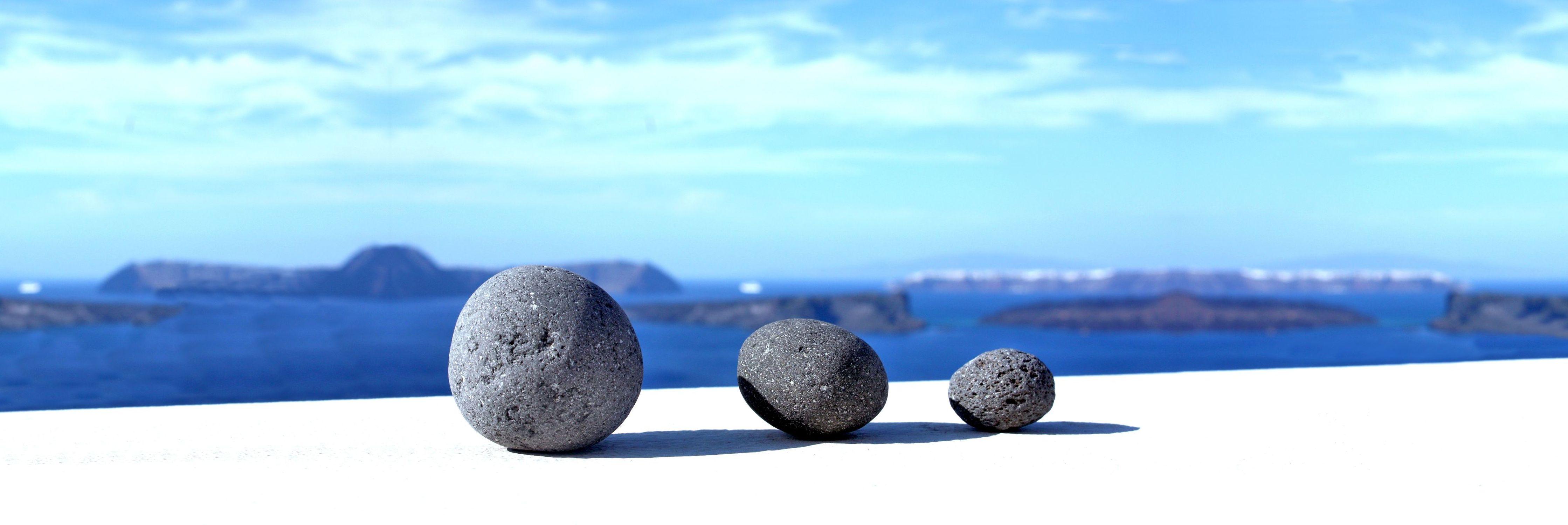 Bild mit Natur, Elemente, Wasser, Landschaften, Himmel, Felsen, Steine, Santorini