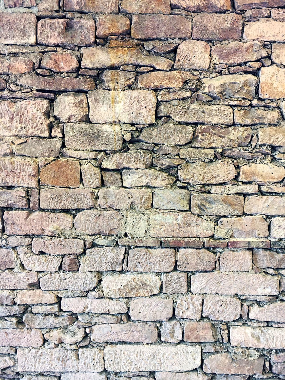 Bild mit Materialien, Stein, Struktur, Ziegel, Ziegelsteinwand, Natursteinwand, Steinwand