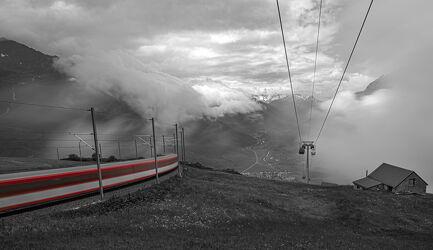 Bild mit Landschaften, Berge, Züge, landscape, Swiss Mountain, Langzeitbelichtung, Zug
