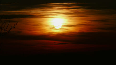 Bild mit Sonnenuntergang, Sonne, Wolkenhimmel