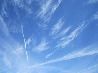 Bild mit Himmel, Wolken, Wolkenhimmel, Wolken am Himmel, Sonnen Himmel, Blauer Himmel