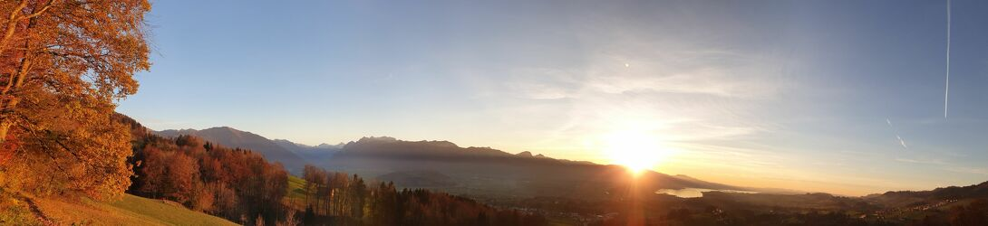 Bild mit Sonnenuntergang, Panorama, Sunset