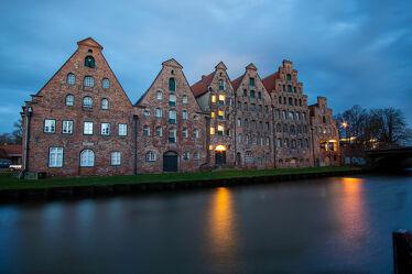 Bild mit Gebäude, Altstadt, Historisch, Fluss, Norden, Morgenstunde, Lübeck
