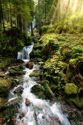 Bild mit Natur, Wasser, Sommer, Wald, Landschaft, Wasserfall, Sonnenlicht, Fluss, schwarzwald