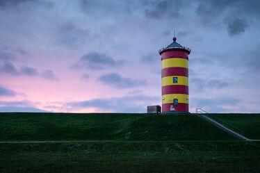 Bild mit Sonnenuntergang, Sonnenaufgang, Landschaft, Nordsee, Ostfriesland, Leuchtturm