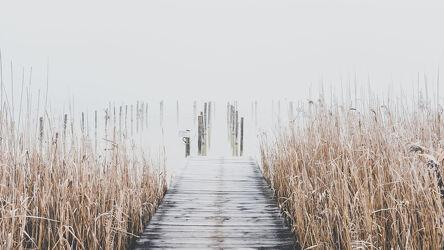 Bild mit Landschaften, Deutschland, Bootssteg, Langzeitbelichtung, Ammersee, Ammersee 2020, Dießen, NikonD7200, St.Alban