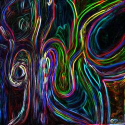 Bild mit Abstrakt Art, Modernes Design, Farbiges, modern, Frauen, Neon
