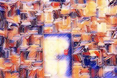 Bild mit Abstrakte Kunst, Raum und Zeit, WOHNEN, Bücher