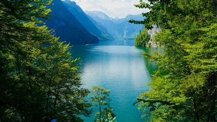 Bild mit Natur, Seen, Wald, Urlaubsbild, Traumaussicht, königssee