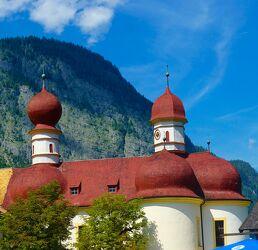 Bild mit Kirchen, Urlaubsfoto, Kirche, königssee