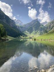 Bild mit Alpen, Alpen Panorama, Bergsee