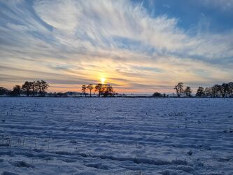 Bild mit Winter, Sonnenuntergang, winterlandschaft