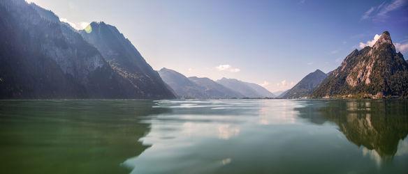 Bild mit Natur, Wasser, Berge, Gewässer, Seen, Panorama, Meer, Nature, See, berg, Gebirge
