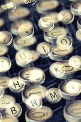 Schreibmaschinentasten Kunst