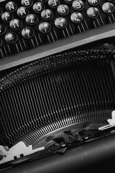 Schreibmaschine Schwarz Weiss