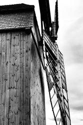 Bild mit Mühlen, Windmühlen, Windmühle, schwarz weiß, Mühle, SW, mill, windmill