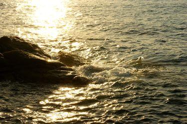 Fels in der Abendsonne