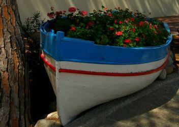 Boot als Blumentopf
